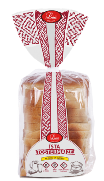 Īsta tostermaize ar pienu un sviestu