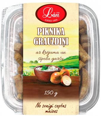 Piknika grauzdiņi ar krējuma un sīpolu garšu