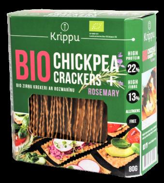 Bio zirņu krekeri ar rozmarīnu