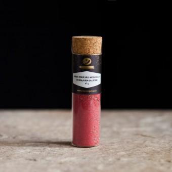 Aveņu rozā sāls mocarellai