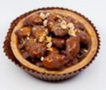 Smilšu mīklas groziņš ar karameli un mandelēm