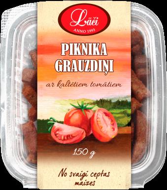 Piknika grauzdiņi ar kaltētiem tomātiem
